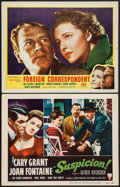 """Movie Posters:Hitchcock, Suspicion & Other Lot (RKO, R-1953). Lobby Cards (2) (11"""" X 14""""). Hitchcock.. ... (Total: 2 Items)"""
