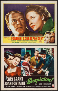 """Suspicion & Other Lot (RKO, R-1953). Lobby Cards (2) (11"""" X 14""""). Hitchcock. ... (Total: 2 Items)"""