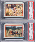 Non-Sport Cards:Singles (Post-1950), 1953 R709-1 Topps Fighting Marines PSA Graded Pair (2). ...