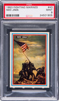 Non-Sport Cards:Singles (Post-1950), 1953 R709-1 Topps Fighting Marines #43 PSA Mint 9 - Pop One, NoneHigher! ...
