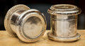 Silver Holloware, British:Holloware, A Pair of English Silver-Plated Conjoining Cigarette Cases, 20thcentury. 3-1/2 inches (8.9 cm). ... (Total: 2 Items)