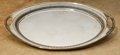 Silver Holloware, British, An Edwardian Silver-Plated Serving Tray, early 20th century. Marks:EA, (Prince of Wales feathers) . 20 w x 14 d inches ...