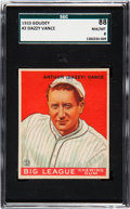 Baseball Cards:Singles (1930-1939), 1933 Goudey Dazzy Vance #2 SGC 88 NM-MT 8 - None Higher. ...