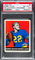 Football Cards:Singles (Pre-1950), 1948 Leaf Bobby Layne (Yellow Pants) #6 PSA NM-MT+ 8.5....