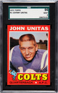 Football Cards:Singles (1970-Now), 1971 Topps Johnny Unitas #1 SGC 96 Mint 9 - Pop Two, None Higher....