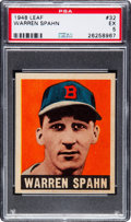 Baseball Cards:Singles (1940-1949), 1948 Leaf Warren Spahn #32 PSA EX 5....