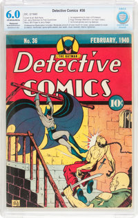Detective Comics #36 (DC, 1940) CBCS Apparent FN 6.0 Moderate to Extensive (P) Off-white to white pages
