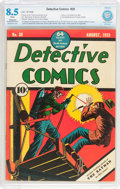 Golden Age (1938-1955):Superhero, Detective Comics #30 (DC, 1939) CBCS Apparent VF+ 8.5 Moderate to Extensive (P) White pages....