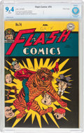 Golden Age (1938-1955):Superhero, Flash Comics #74 Ohio Pedigree (DC, 1946) CBCS NM 9.4 White pages....
