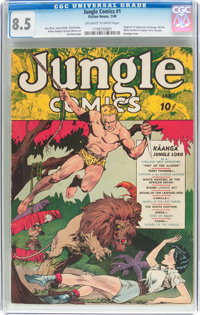 Jungle Comics #1 (Fiction House, 1940) CGC VF+ 8.5 Off-white to white pages