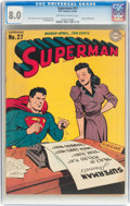 Golden Age (1938-1955):Superhero, Superman #27 (DC, 1944) CGC VF 8.0 Off-white to white pages....