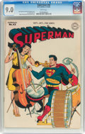 Golden Age (1938-1955):Superhero, Superman #42 (DC, 1946) CGC VF/NM 9.0 White pages....