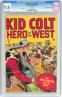 Kid Colt #2 Mile High Pedigree (Atlas/Marvel, 1948) CGC NM+ 9.6 White pages