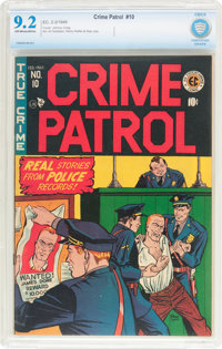 Crime Patrol #10 (EC, 1949) CBCS NM- 9.2 Off-white to white pages