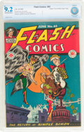 Golden Age (1938-1955):Superhero, Flash Comics #65 Mile High Pedigree (DC, 1945) CBCS NM- 9.2 Off-white to white pages....
