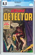 Golden Age (1938-1955):Crime, Crime Detector #4 (Timor, 1954) CGC VF+ 8.5 Off-white pages....