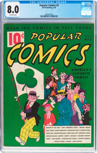 Popular Comics #3 (Dell, 1936) CGC VF 8.0 Off-white pages