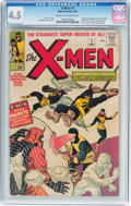 Silver Age (1956-1969):Superhero, X-Men #1 (Marvel, 1963) CGC VG+ 4.5 Cream to off-white pages....