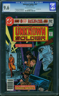 Unknown Soldier #247 (DC, 1981) CGC NM+ 9.6 Off-white to white pages