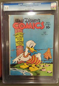 Walt Disney's Comics and Stories #21 (Dell, 1942) CGC GD 2.0 White pages