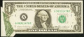 Error Notes:Attached Tabs, Fr. 1913-A $1 1985 Federal Reserve Note. Extremely Fine.. ...