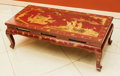 Asian:Chinese, A Chinese Partial Gilt Red Lacquered Low Table, 20th century. 15 hx 44-1/2 w x 20-3/4 d inches (38.1 x 113.0 x 52.7 cm). ...