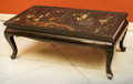 Asian:Chinese, A Chinese Black Lacquered Low Table, 20th century. 14-1/2 h x37-1/4 w x 20-1/2 d inches (36.8 x 94.6 x 52.1 cm). ...