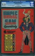 Golden Age (1938-1955):Superhero, Uncle Sam Quarterly #1 (Quality, 1941) CGC VF 8.0 White pages.