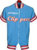 Basketball Collectibles:Uniforms, 1978-80 Swen Nater Game Worn San Diego Clippers Warmup Jacket andPants with Nater Letter....