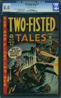 Golden Age (1938-1955):War, Two-Fisted Tales #24 (EC, 1951) CGC VF 8.0 Off-white to white pages.