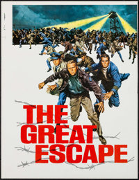 "The Great Escape (United Artists, 1963). Printer's Proof Promotional Brochure (18.75"" X 24.5"") DS. War"