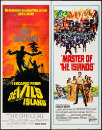 "I Escaped from Devil's Island & Others Lot (United Artists, 1973). Inserts (4) (14"" X 36""). Action. ... (T..."