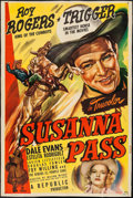 "Movie Posters:Western, Susanna Pass (Republic, 1949). Trimmed One Sheet (26.75 "" X 39.75""). Western.. ..."