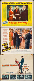 """Movie Posters:Drama, Bus Stop & Others Lot (20th Century Fox, 1956). Title Lobby Card & Lobby Cards (2) (11"""" X 14""""). Drama.. ... (Total: 3 Items)"""