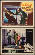 """Movie Posters:Crime, Brother Orchid & Other Lot (Warner Brothers, 1940). Lobby Cards (2) (11"""" X 14""""). Crime.. ... (Total: 2 Items)"""
