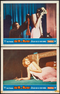 "Dial M for Murder (Warner Brothers, 1954). Lobby Cards (2) (11"" X 14""). Hitchcock. ... (Total: 2 Items)"