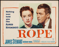 """Rope (Warner Brothers, 1948). Lobby Card (11"""" X 14""""). Hitchcock"""