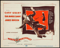 "North by Northwest (MGM, 1959). Title Lobby Card (11"" X 14""). Hitchcock"