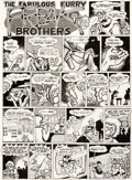 "Original Comic Art:Complete Story, Gilbert Shelton The Fabulous Furry Freak Brothers #1 ""Mystery Drugs"" 1-Page Story Original Art (Rip Off Press, 197..."