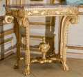 Furniture , A Pair of Balaton Collection Régence-Style Giltwood Console Tables with Marble Tops, late 20th century. 38 h x 43-1/4 w x 20... (Total: 4 Items)