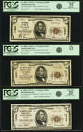 National Bank Notes:Missouri, Saint Louis, MO $5 1929 Nationals.. National City Bank Ch. #11989;. The Twelfth Street NB Ch. # 12491;. The Ameri... (Total: 3notes)