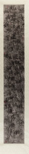 Post-War & Contemporary:Contemporary, Qiu Zhijie (b. 1969). Untitled (white scroll). Ink on papermounted on scroll. 98 x 15-1/4 inches (248.9 x 38.7 cm) (she...