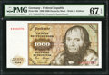 Germany Federal Republic Deutsche Bundesbank 1000 Deutsche Mark 2.1.1980 Pick 36b