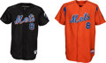 Baseball Collectibles:Uniforms, 2000'S Gary Carter Game Worn, Signed Spring New York Mets Training Jerseys Lot of 2 from The Gary Carter Collection....