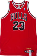 Basketball Collectibles:Uniforms, 1999 Michael Jordan UDA Signed Chicago Bulls Jersey. ...