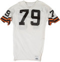 Football Collectibles:Uniforms, Mid 1980's Bob Golic Game Worn Cleveland Browns Jersey....
