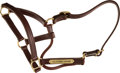 Miscellaneous Collectibles:General, 2013-15 California Chrome Worn Halter Signed by Trainer Art Sherman & Obtained at Charity Auction. ...
