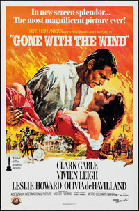 """Gone with the Wind (MGM, R-1980). 50th Anniversary One Sheet (27"""" X 41""""). Academy Award Winners"""