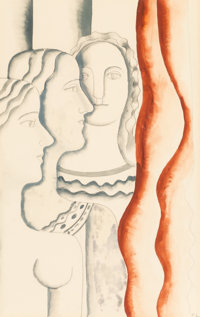 Fernand Léger (1881-1955) Untitled (Three Women) Gouache and pencil on paper 29 x 21 inches (73.7