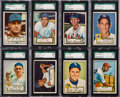 Baseball Cards:Lots, 1952 Topps Baseball High Grade SGC Graded Collection (20). ...